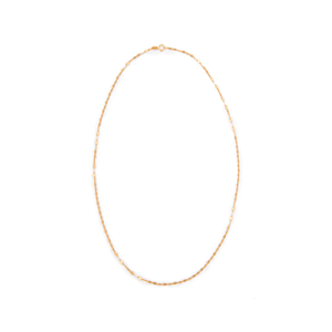 Medium tuza lotus chain necklace