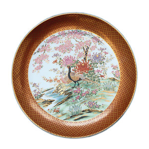 Medium ceraudo oriental peacokc pattern plate