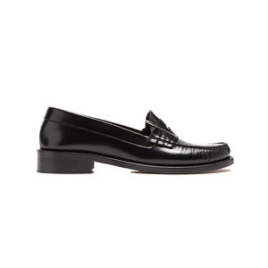 Medium alexa chung safety pin embellished leather loafers