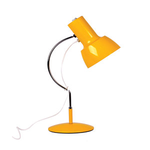 Medium yellow model 0521 table lamp by josef hurka for napako  1970s