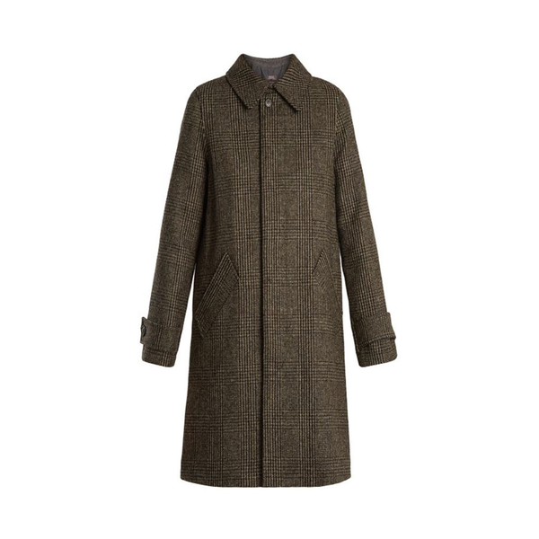 Large a.p.c dinnard prince of wales checked wool coat