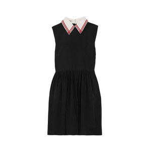 Medium miu miu silk crepe de chine mini dress