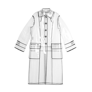 Medium miu miu single breasted raincoat