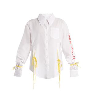 Medium art school acid oversized tie side cotton shirt
