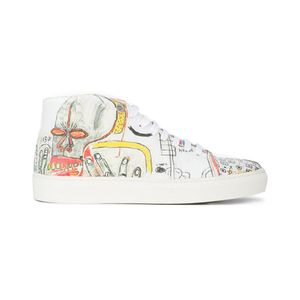 Medium browns rome pays off printed mid top sneakers