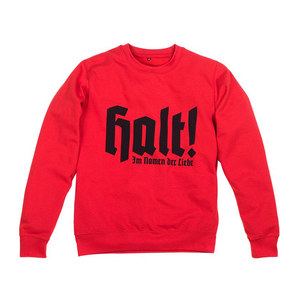 Medium scott king sweatshirt in red from house of voltaire
