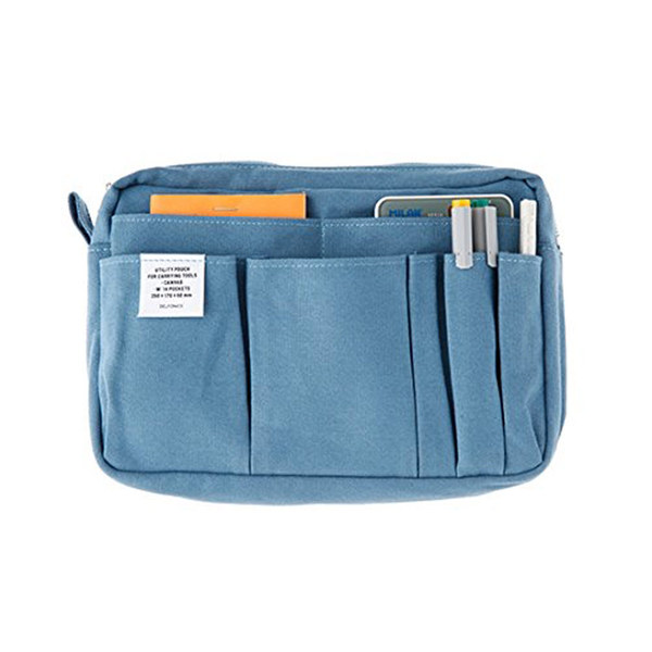Large retoucheddelfonics stationery case bag in bag   s size   blue