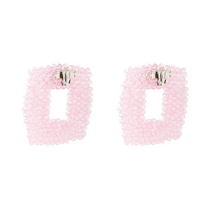 Medium dries van noten chunky square beaded earrings