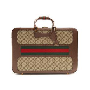 Medium gucci gg supreme canvas and leather case