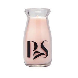 Medium milk bottle candle