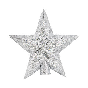 Medium star christmas tree topper silver