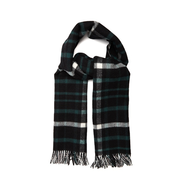Large burberry checked wool and cashmere blend scarf