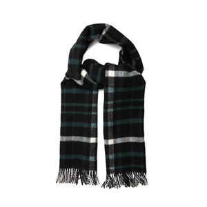 Medium burberry checked wool and cashmere blend scarf