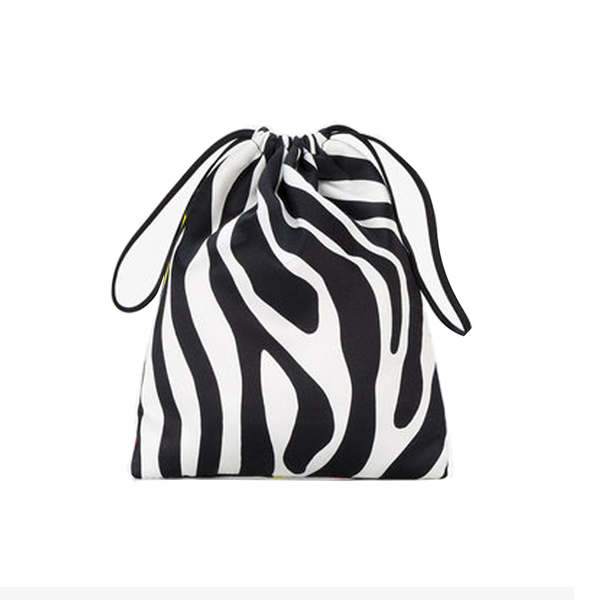 Large browns attico tulip and zebra print mini pouch