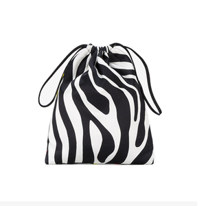 Medium browns attico tulip and zebra print mini pouch