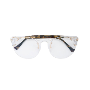 Medium grey ant solo tortoiseshell optical glasses