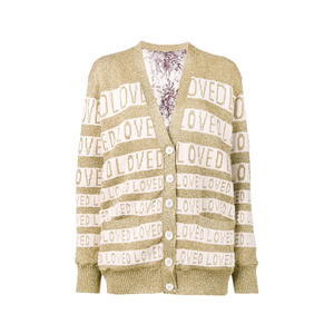 Medium gucci loved oversized lurex cardigan