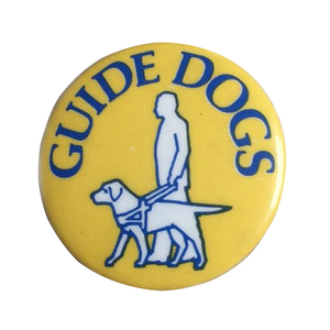 Medium guide dogs charity pin badge