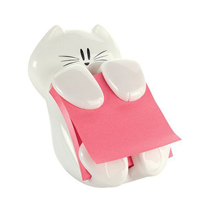 Medium post it cat figure pop up note dispenser  3 inch x 3 inch  cat 330  colors may