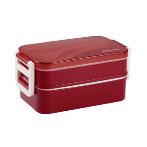 Medium 850ml double layer microwave lunch box food storage container bento boxes rf