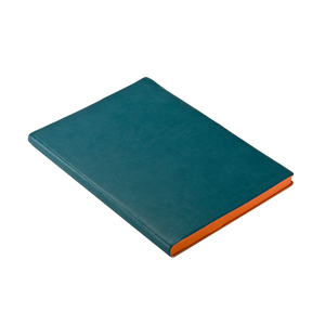 Medium a6 luxury fine italian pu leather ruled lined notebook