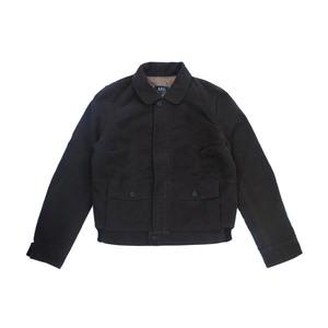 Medium apc a.p.c womens moleskin bomber chore jacket size l chestnut m rrp  220