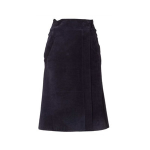 Medium strenesse women leather skirt genuine leather blue 8