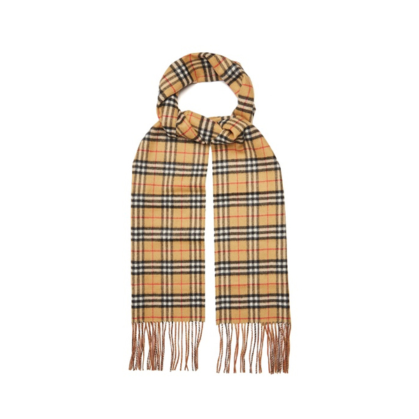 009ead8be2a07 BURBERRY - Classic Vintage-check reversible cashmere scarf - Semaine