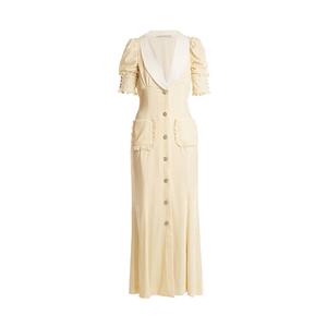 Medium alessandra rich v neck velvet dress