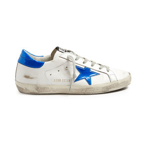 Medium gold goose trainers super star low top leather trainers