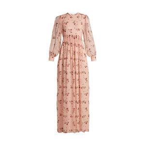Medium emilia wickstead pia rose print silk chiffon dress