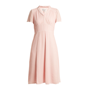 Medium hvn morgan short sleeved velvet dress