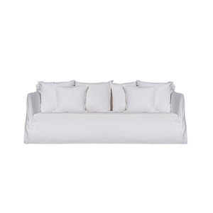 Medium ghost 16 sofa in lino bianco fabric