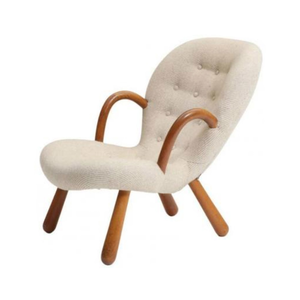 Medium clam chair by philip arctander for nordisk staal   m%c3%b8bel central  1944