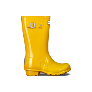 Medium hunter original kids gloss wellington boots