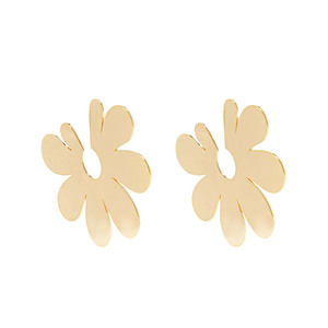 Medium simone rocha gold plated wide earrings