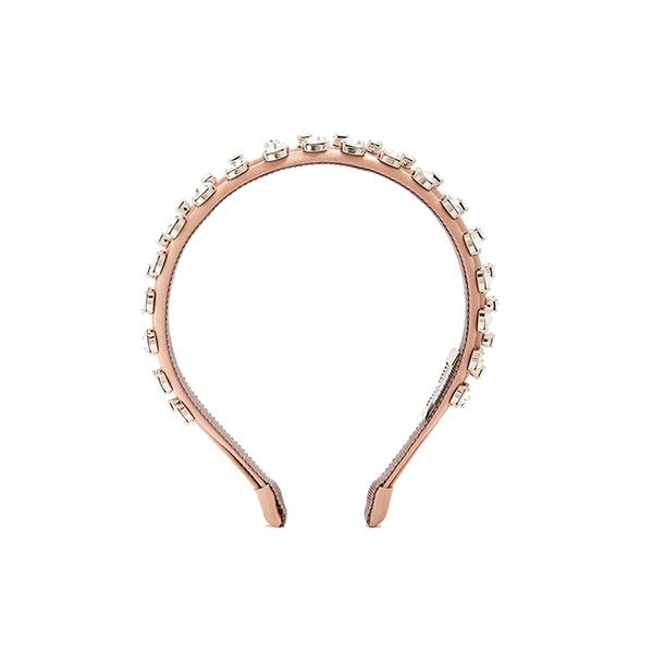 Miu Miu crystal-embellished satin headband Outlet Looking For 849Zjwhoj