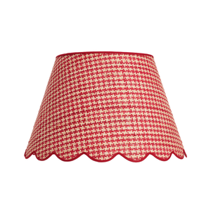 Medium matilda goad houndstooth raffia scallop lampshade   16