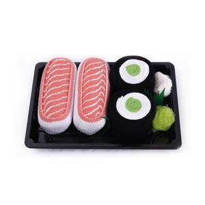 Medium sushi socks box 2 pairs salmon cucumber maki cool gift present gadget