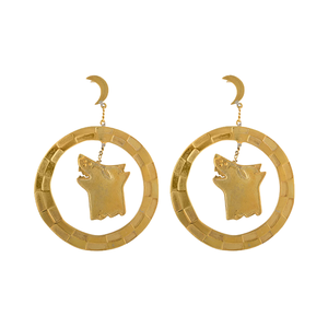 Medium tuza x small spells luna earrings