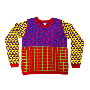 Medium all knitwear tri grid
