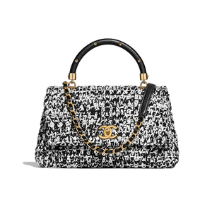 Medium chanel flap bag with top handle