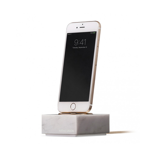 Medium conran shop white marble iphone dock