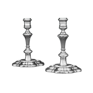 Medium george ii candlesticks by paul de lamerie