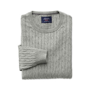 Medium charles tyrwhitt grey cashmere cable