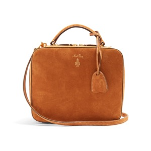 Medium mark cross laura suede shoulder bag
