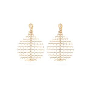 Medium fernando jorge matches diamond   yellow gold disco earrings