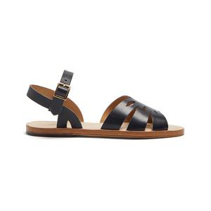 Medium a.p.c lilia laser cut leather sandals