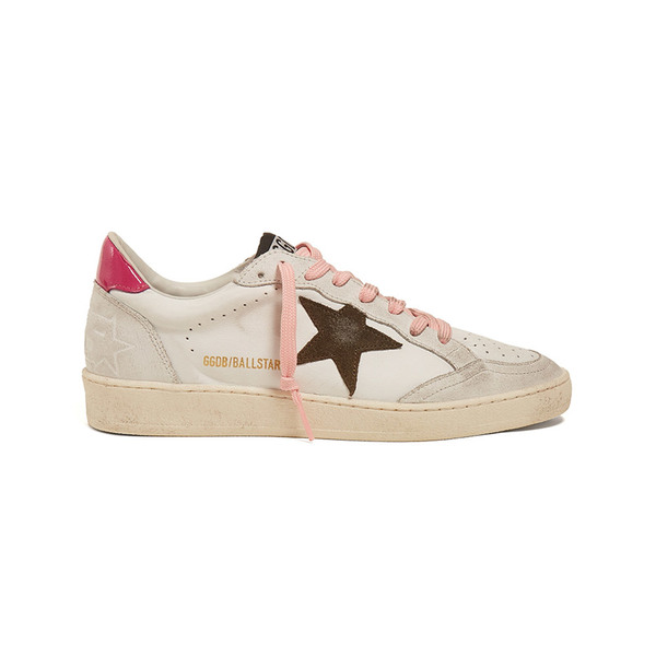 Large golden goose dual star low top leather trainer