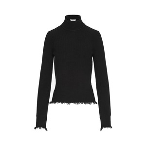 Medium edun herringbone rib bell sleeve sweater